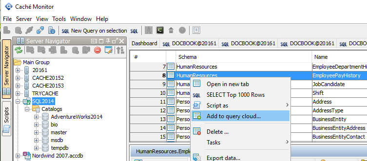 How to use the jTDS database driver with Caché Monitors - Query Cloud -